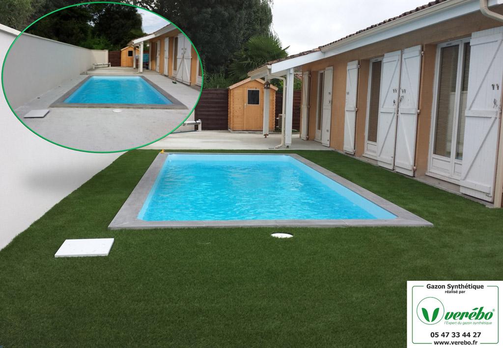 une nouvelle terrasse en gazon synthetique est apparue à Merignac