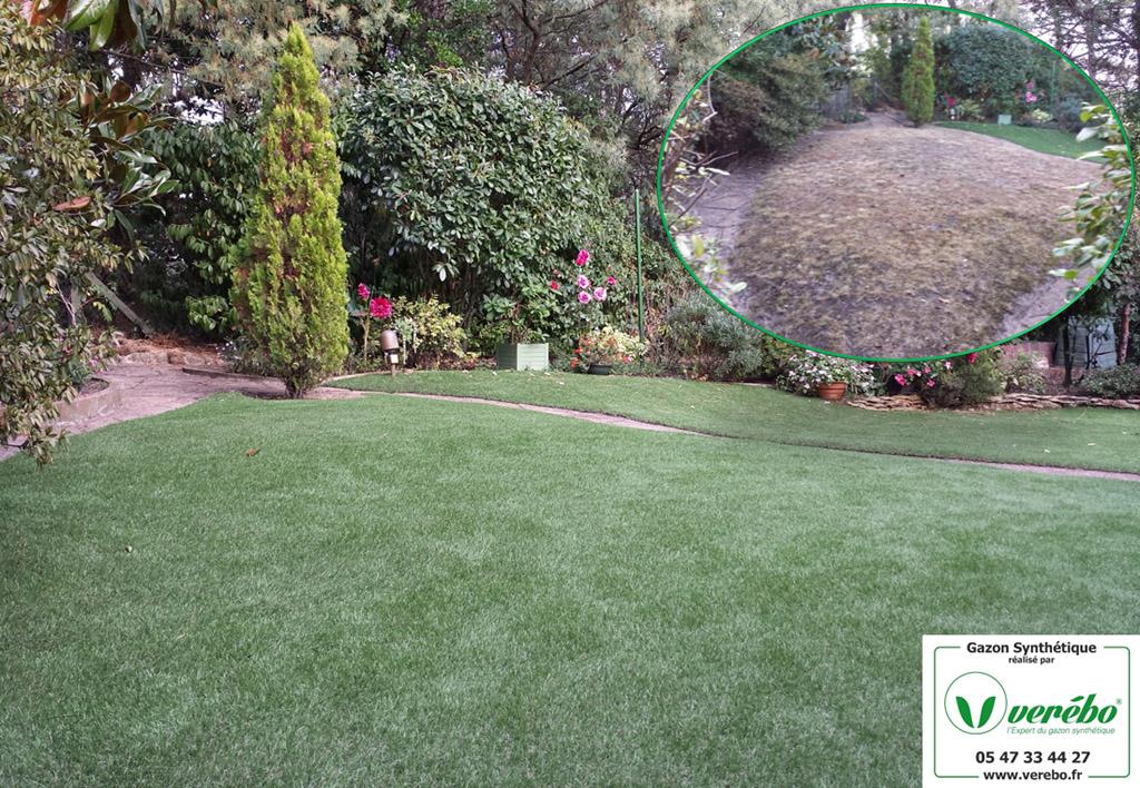 jardin en gazon synthetique à Arcachon